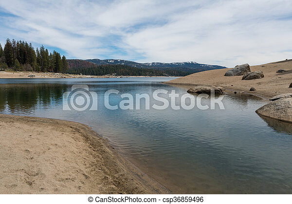 rasoir, rivage, lac - csp36859496