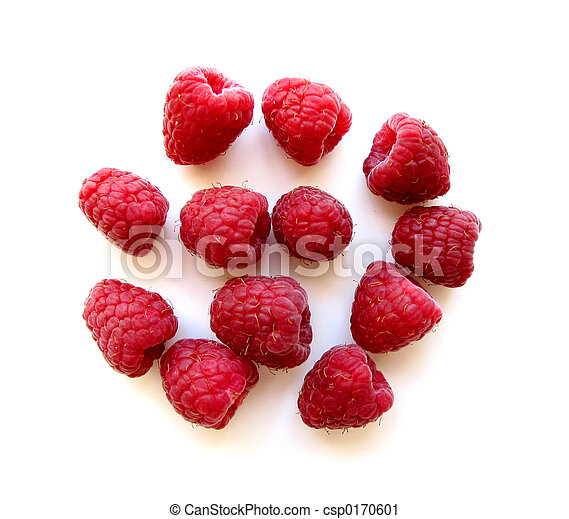 Raspberries on white 1 - csp0170601