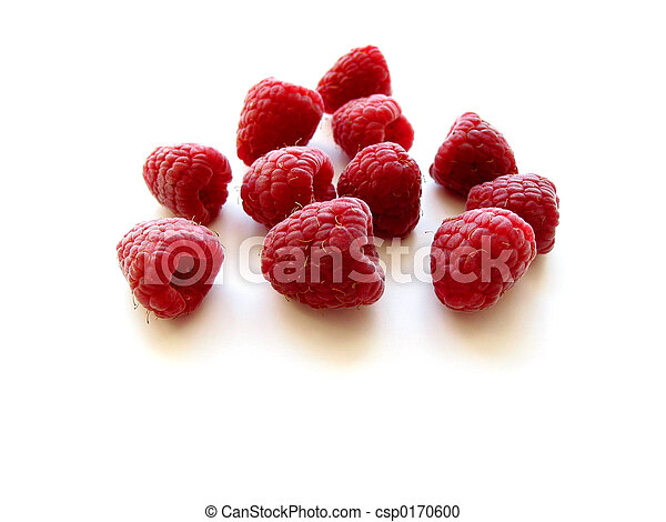 Raspberries on white - csp0170600