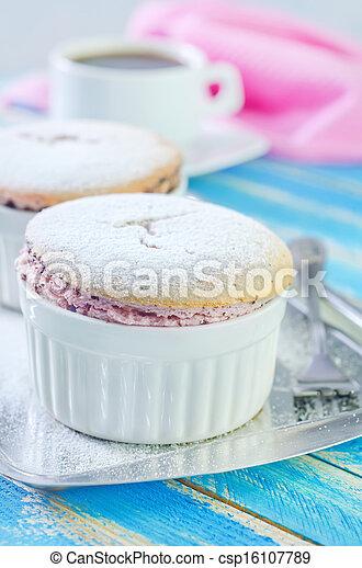 raspberry souffle - csp16107789
