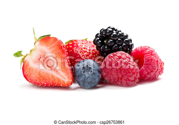 raspberry, strawberry, blueberry and blackberry - csp26753861
