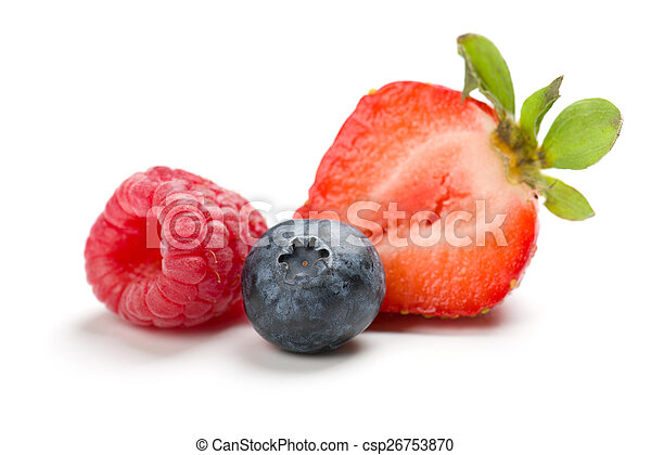 raspberry, strawberry, blueberry - csp26753870