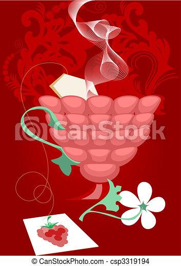 Raspberry tea - csp3319194
