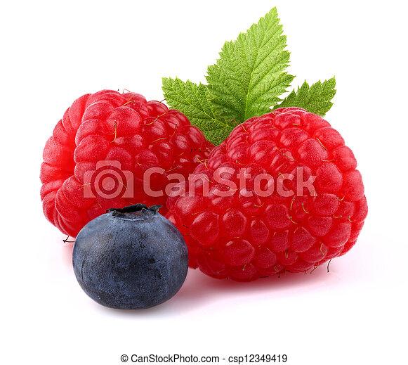 Raspberry with blueberry - csp12349419