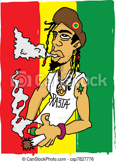 illustration of a rastaman clip art vector search drawings and rh canstockphoto com rasta cartoon characters rasta cartoon pictures