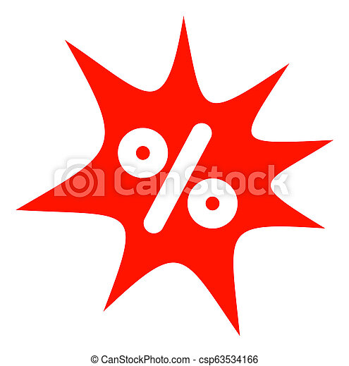 Raster Discount Boom Icon - csp63534166