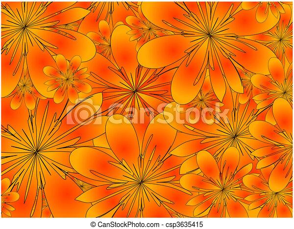 raster. floral background - csp3635415