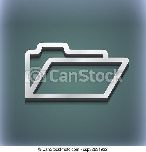 raster, spazio, testo, moderno, simbolo., style., trendy, disegno, cartella, 3d, tuo, icona - csp32631932