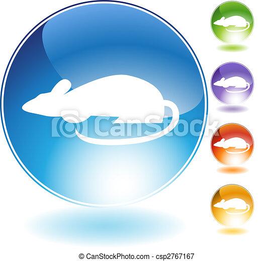 Rat Crystal Icon - csp2767167