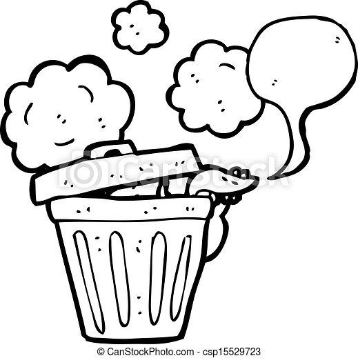 Rat dessin anim poubelle - Dessin de poubelle ...