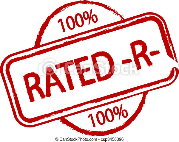 Rated R An Illustrated Stamp That Declares A Product As Rated R