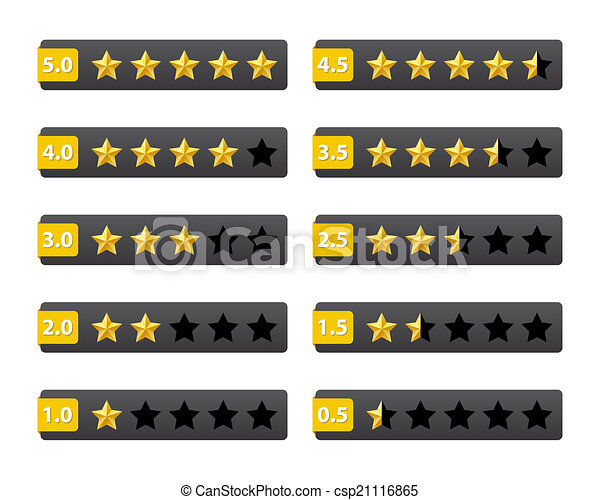 Rating stars buttons - csp21116865