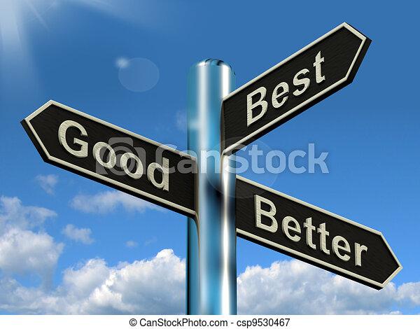 ratings, bon, poteau indicateur, mieux, améliorations, représenter, mieux - csp9530467