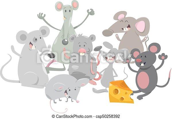 Dibujos De Ratones Animales Ilustración De Dibujos Animados