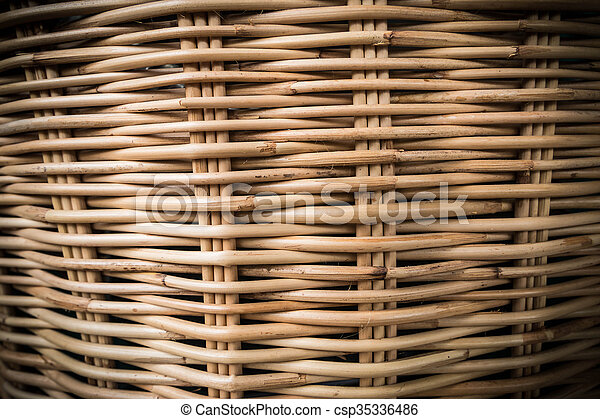 Rattan basketry pattern background 1 - csp35336486