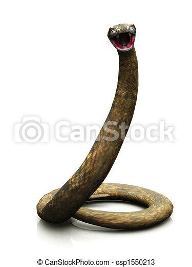 Rattlesnake ready to strike - csp1550213