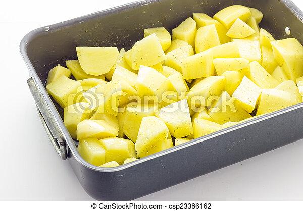 Raw Baked potatoes - csp23386162