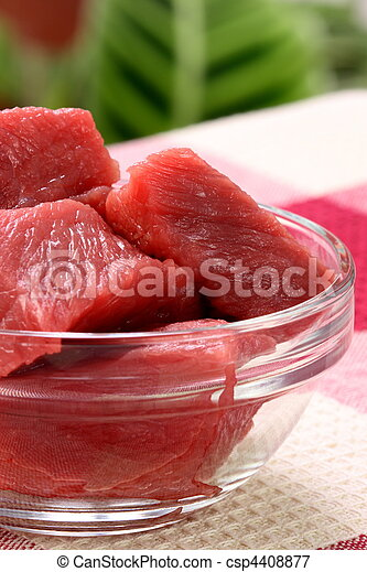 raw beef tenderloin chunks - csp4408877