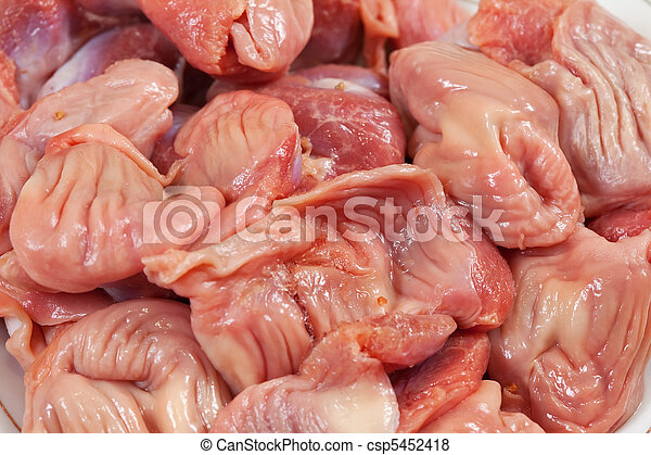 Fresh And Raw Chicken Gizzard Close Up Canstock