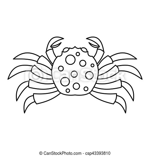 Raw crab icon, outline style - csp43393810