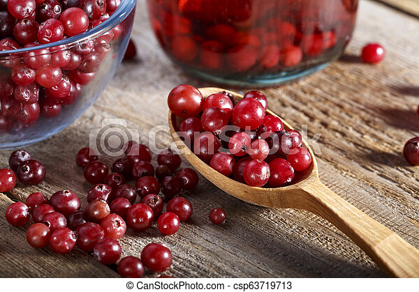 raw cranberries on the table - csp63719713