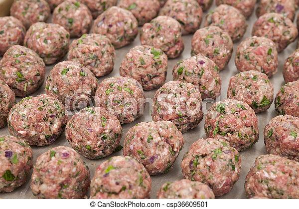 Raw meatballs - csp36609501
