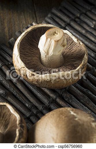 Raw Organic Portobello Mushrooms Ready To Cook Canstock