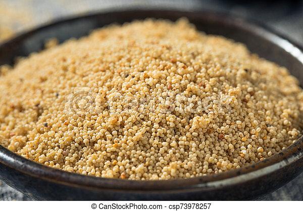Raw Organic White Poppy Seeds - csp73978257