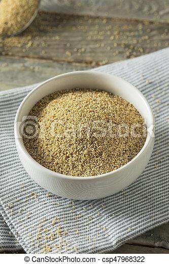 Raw Organic White Poppy Seeds - csp47968322