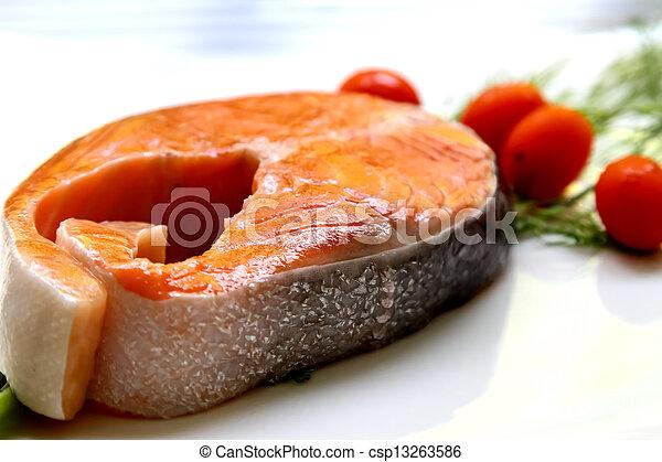 Raw Salmon - csp13263586