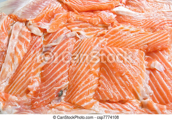 Raw Salmon - csp7774108