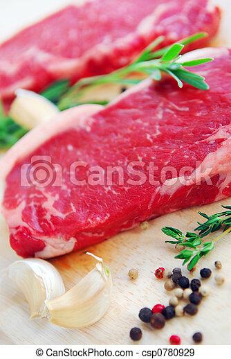 Raw steak - csp0780929