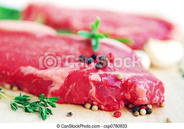 Raw steak - csp0780933