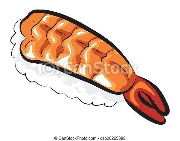 Raw Sweet Shrimp Sushi - csp20265393