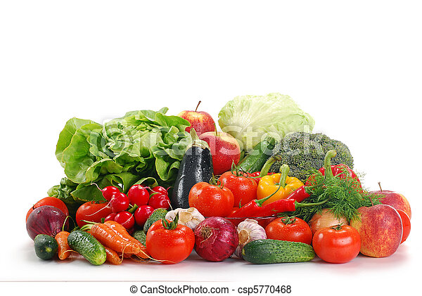 Raw vegetables isolated on white - csp5770468