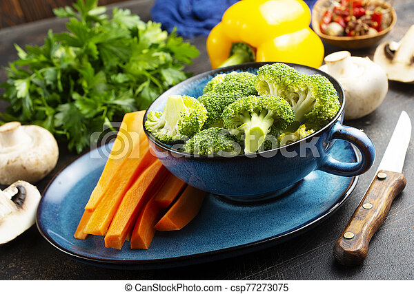 raw vegetables - csp77273075