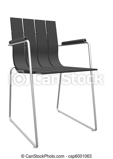 Raye Moderne Noir Chaise Bureau