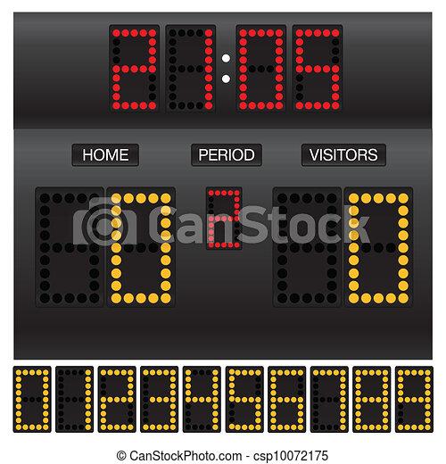 El marcador del juego con el temporizador - csp10072175