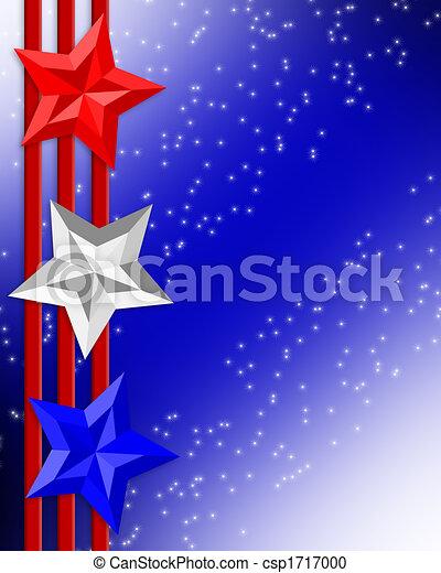 4 de julio rayas de estrellas de la frontera patrióticas - csp1717000