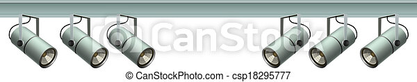 Luces en un rayo de metal - csp18295777