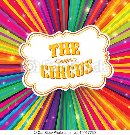 rayons, eps10, coloré, cirque, étiquette, arrière-plan., vecteur, psychédélique - csp10017759