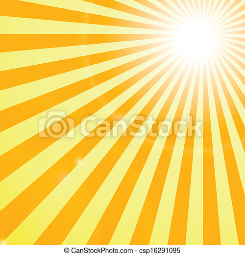 rayons soleil, backgroung, briller - csp16291095