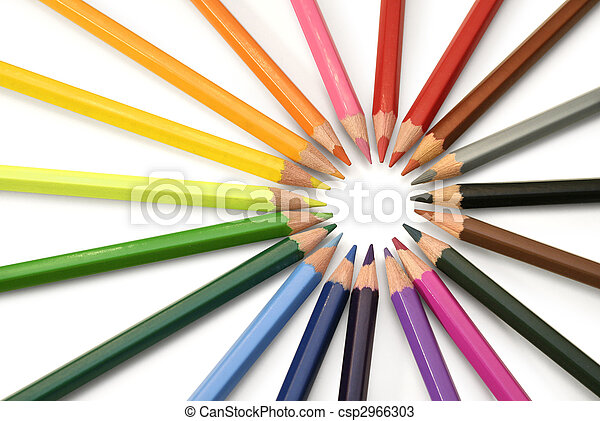 Rays of color pencils - csp2966303