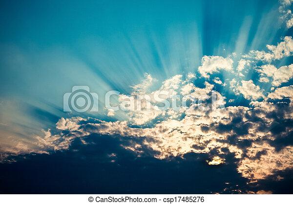 rays of sunlight - csp17485276