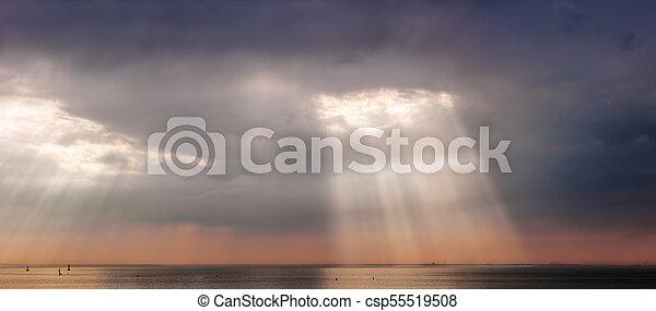 rays of the evening sun - csp55519508