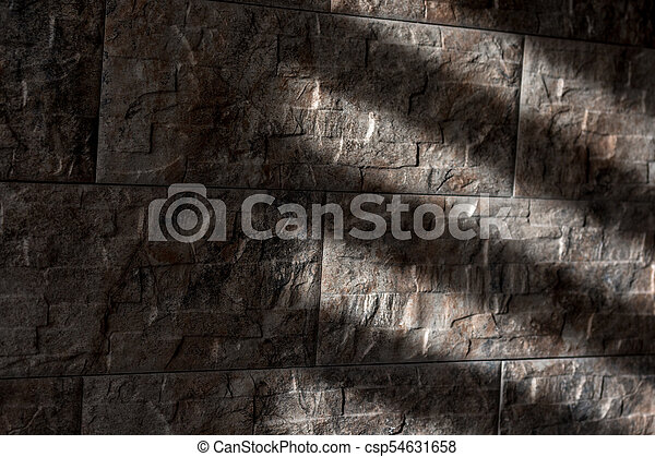 rays of the sun on the stone... - csp54631658