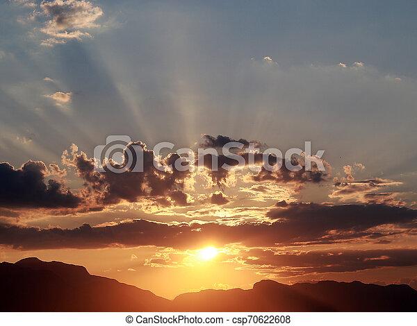 rays of the sun - csp70622608