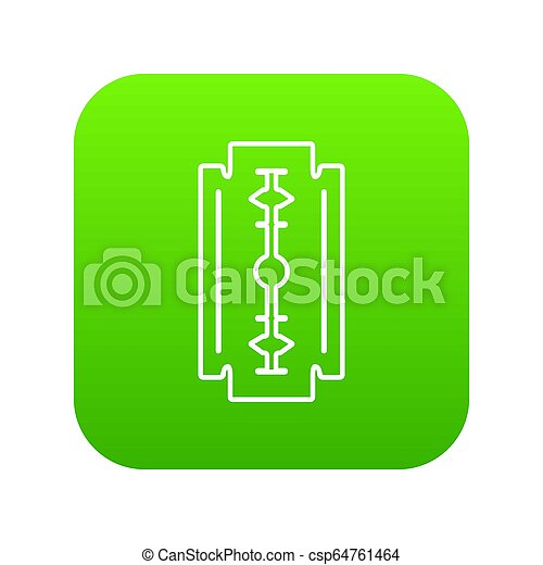 Razor blade icon green - csp64761464