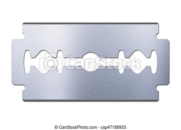 razor blade on white background - csp47188933
