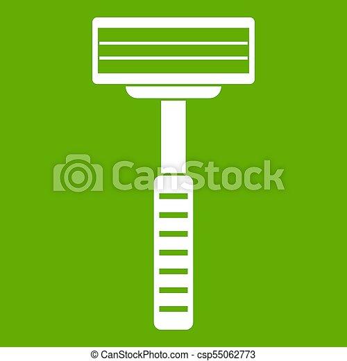 Razor icon green - csp55062773